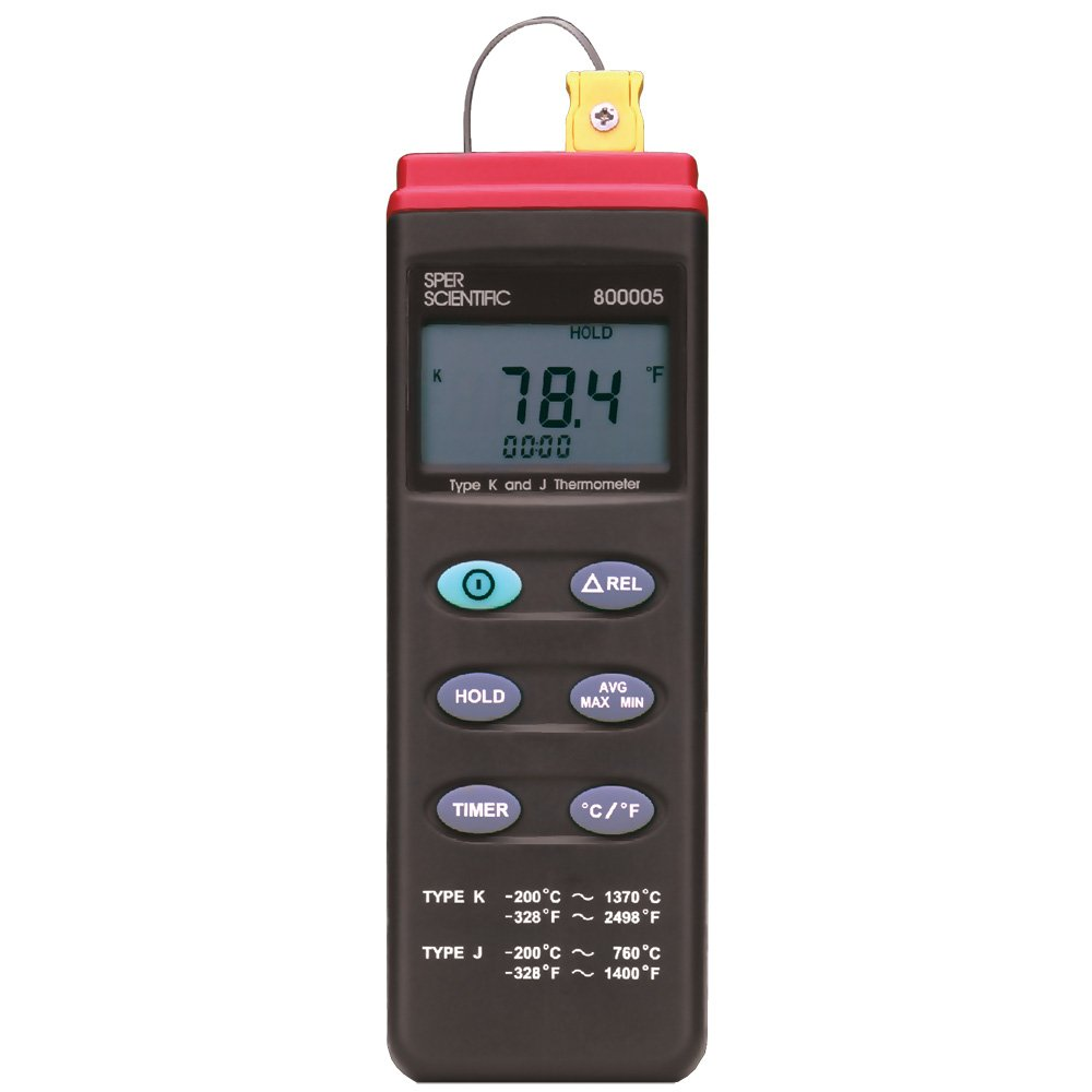 Sper Scientific 800005 Type K/JThermocouple Thermometer with RS232 Output