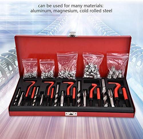 Qinlorgo Thread Repair Kit,131pcs M5-M12 Screw Threaded Inserts Repair Tool Set Wire Insert Installation Kit