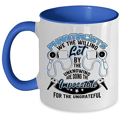 Coolest Pharmacist Coffee Mug, Pharmacists Accent Mug (Accent Mug - Blue)