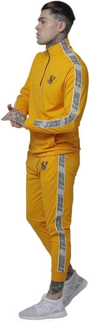 Sik Silk Pantalón Chándal Amarillo Fit Ajustado Hombre: Amazon.es ...