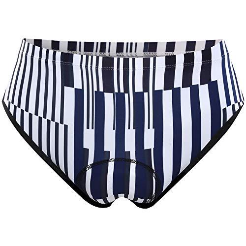 (NOOYME (2019 Newest) Women Bike Underwear Gel 3D Padded Printed Design Bicycle Briefs Cycling Underwear Shorts (XXX-Large, Line Spectrum))