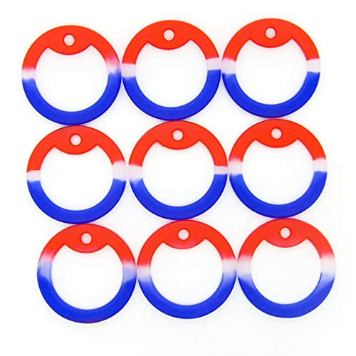 (Pack of 50 OnDepot Red White & Blue USA Camouflage Military Army Dog Tag Silencer Silicone/Rubber Silencer)
