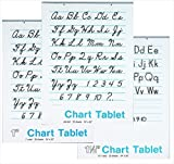 School Smart 85342 Spiral Bound Ruled and Unruled Chart Tablet Assortment - 24 in x 16 in - Pack of 12