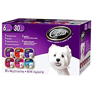 Cesar Canine Cuisine In Meaty Juices Variety Pack 30 Count 6.61 Lbs 79