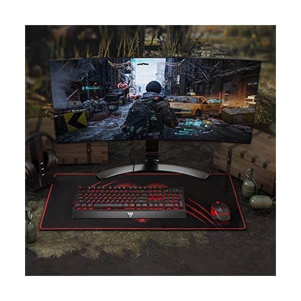 VicTsing Gaming Keyboard Wired, Red LED Backlit Mechanical Keyboard with Red Switch, 100% Anti-ghosting, Waterproof…