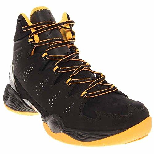 Nike Air Jordan Melo - Nike Mens Air Jordan Melo M10 Basketball Shoes Black/Atomic Mango 629876-013 Size 11.5