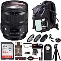 Sigma 24-70mm f/2.8 DG OS HSM Art Lens for CANON EF with Sigma USB Dock and Advanced Photo and Travel Bundle