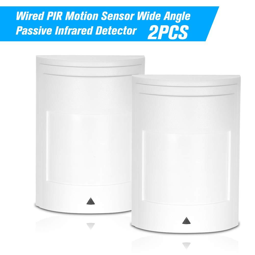 Festnight Sensor de Movimiento Sensor Infrarrojo Pasivo Cableado PIR Detector de Infrarrojos Patrulla de Entrada de Seguridad Sistema de Alarma Alerta ...