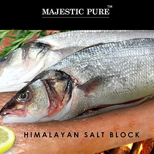 Majestic Pure Pink Himalayan Salt Block - with Stainless Steel Holder - 12in x 8in x 1.5in by Majestic Pure (Image #5)