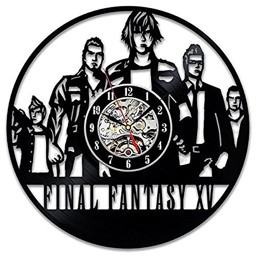 baiao Final Fantasy XV Play Arts Vinyl Record Wall Clock Mod