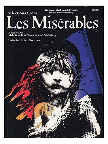 Selections From Les Miserables For Flute. Partitions pour Flûte Traversière(Symboles d'Accords) Music Sales