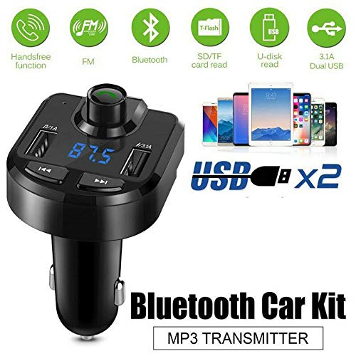 - RONSHIN Cigarette Lighter Wireless Bluetooth FM Transmitter LCD MP3 Player and USB Port