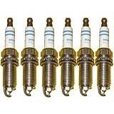 BMW Spark Plugs Platinum Iridium Plug Set Bosch OEM 158253 / FR7NP P332 (6pcs)