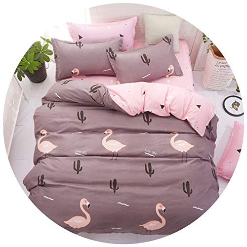 2019 New Spring Bedding Set Orange Cactus Duvet Cover Set Big Ben Flat Sheet Pisa Tower Jogo de cama Bed Linen Heart Duvet Cover,Love Life,Full,Flat Sheet