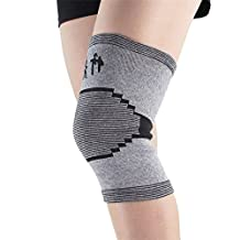 Bamboo Carbon Fiber Knee Sleeve Protector Compression Tendon Knee Recovery Brace Support Kneepad for Joint Pain Relief Arthritis