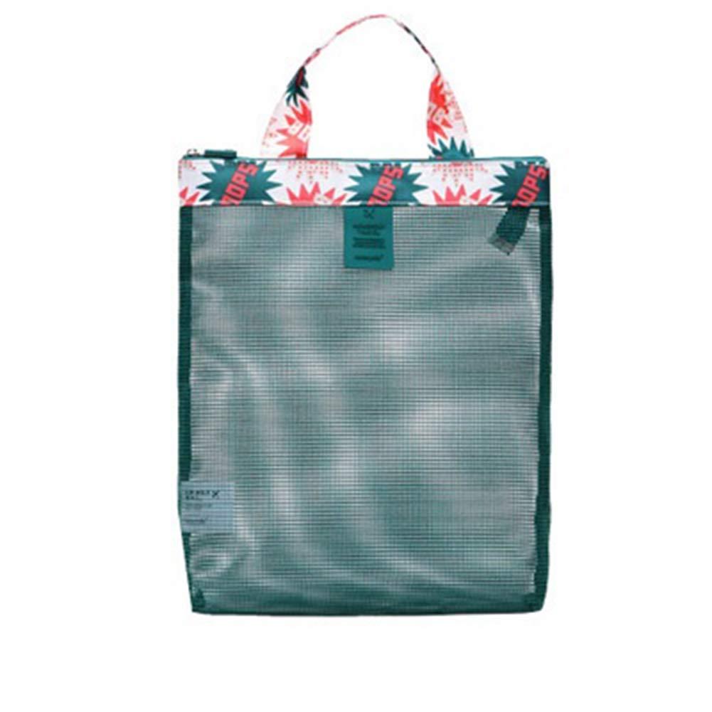 9438577bc Amazon.com: YaptheS Clear Mesh Beach Handbag Portable Swim Shower Bag  Outdoor Travel Storage Organizer Foldable Mesh Tote Beach Bag Green:  Clothing