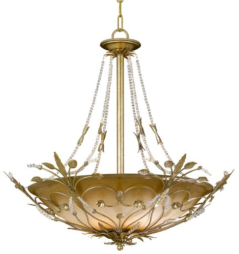Cheap Crystorama 4700-GL Leaf, Flower, Fruit Six Light Chandeliers from Primrose collection in Gold, Champ, Gld Leaffinish,