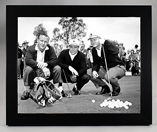 Framed, Gary Player, Jack Nicklaus & Arnold Palmer Together At The Masters In 1967. 8x10 Photograph