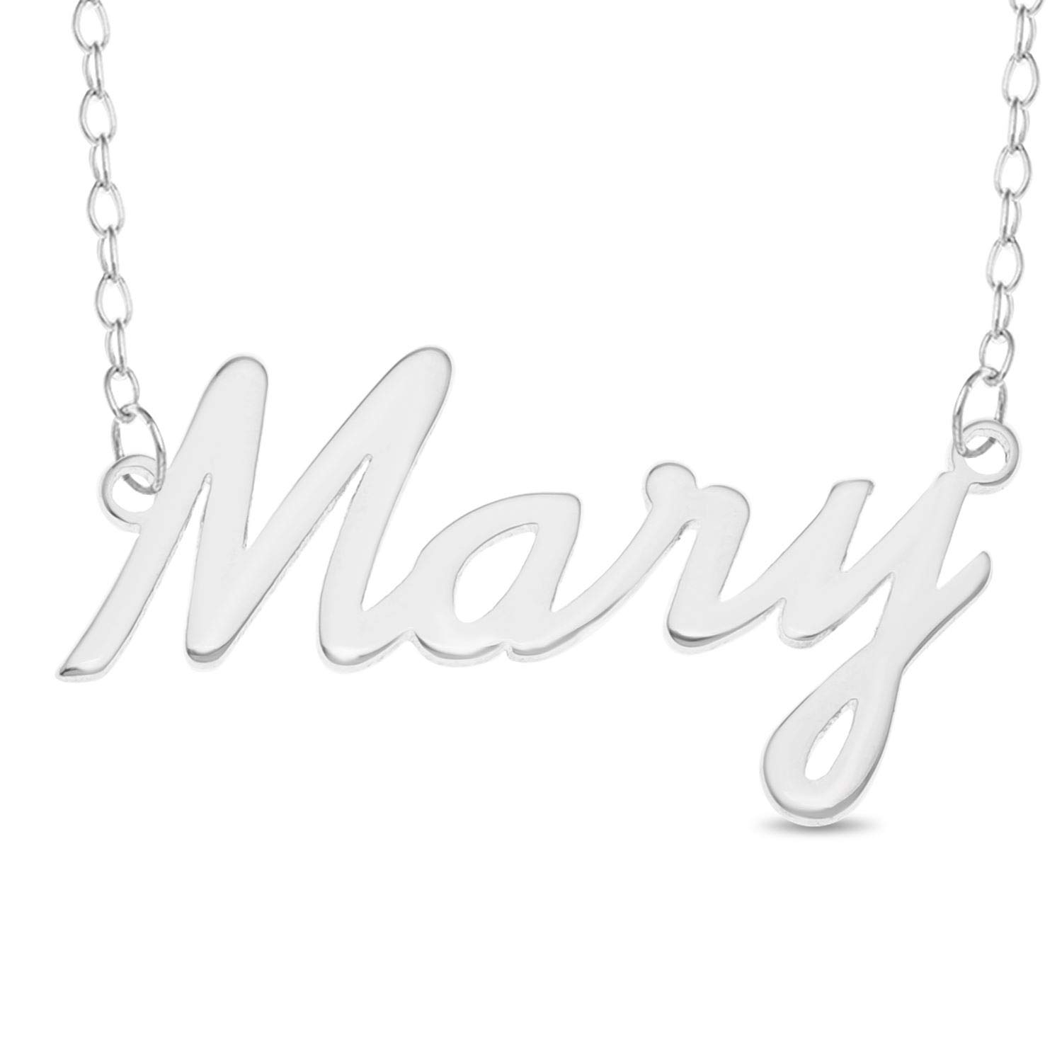 Personalised MARY 925 Sterling Silver Necklace Nameplate Pendant Jewelry Gift