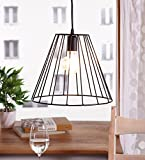 The Brighter Side Trendy Latest Good Quality Lava Black Cage Pendant Hanging Light For Diwali Decoration And Gifiting