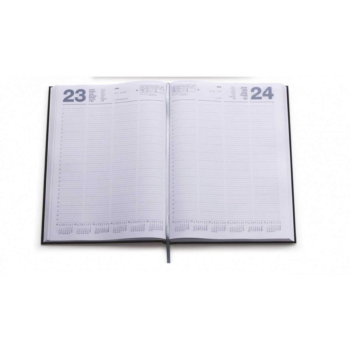 Agenda giornaliera 2020 A4 agenda maxi sabato e domenica separati ROSSA 21x30
