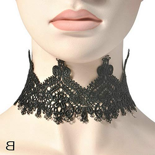 Hebel New Crochet Elegant White Black Lace Choker Collar Necklace Hot Jewelry | Model NCKLCS - 32502 ()