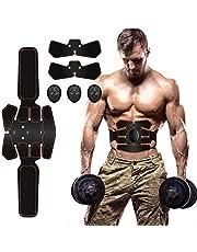 Electroestimulador Muscular Abdominales Masajeador, EMS Ejercitador del Cuerpo de los Músculos de Abdomen/Brazo/Piernas/Cintura Entrenador Muscular Hombre/Mujer