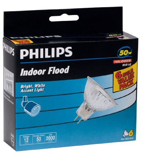 Philips 406009 Landscape and Indoor Flood 50-Watt MR16 12-Volt Light Bulb, 6-pack by Philips (Image #2)