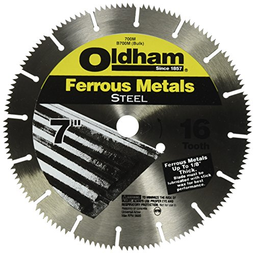 Oldham 700M 7-Inch 16T Steel Saw Blade for Ferrous Metals ()