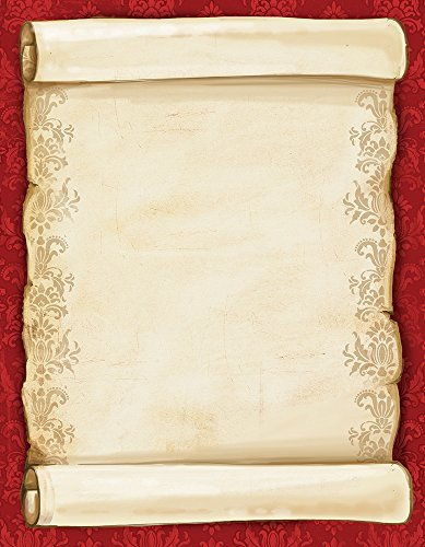 "Great Papers! Christmas Scroll Letterhead, 80 count, 11"" x 8.5"" (2012250)"