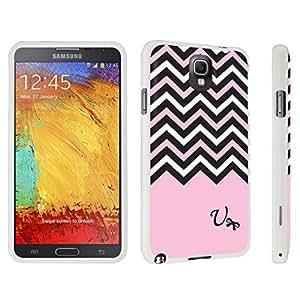 DuroCase ? Samsung Galaxy Note 3 Hard Case White - (Black Pink White Chevron U)