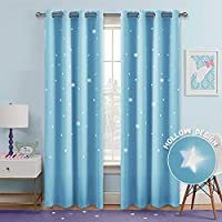PONY DANCE Star Blackout Curtains - Window Treatments...