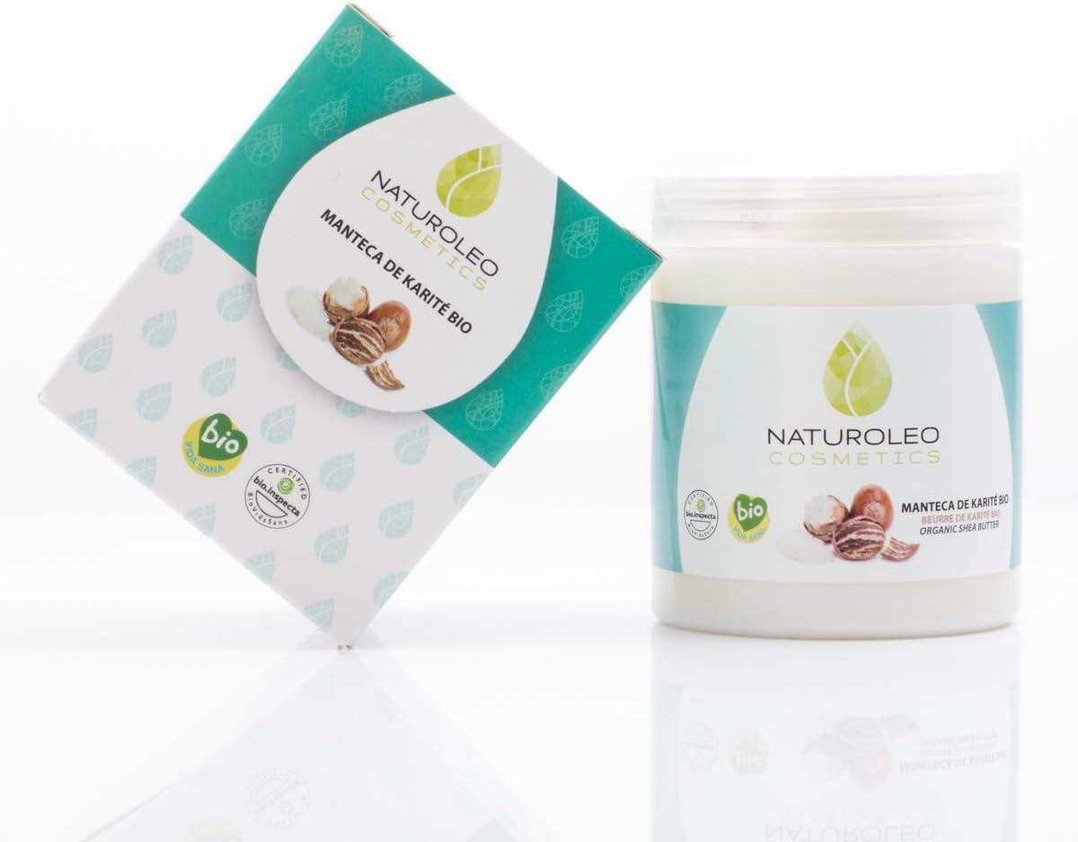 Naturoleo Cosmetics - Manteca Karité BIO - 100% Pura y Natural Ecológica Certificada - 250 ml