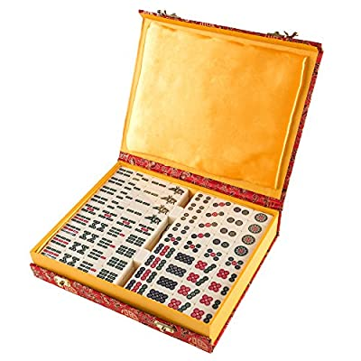 Deluxe Chinese Mahjong Game Set - Includes 146 Tiles, Dice, and Storage Case!
