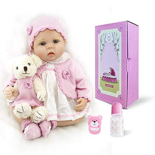 "22/"" Toddler Reborn Lifelike Baby Girl Doll Silicone Vinyl Reborn Newborn Dolls"
