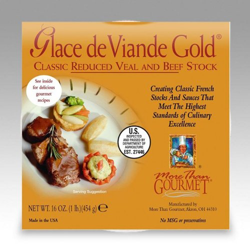 More Than Gourmet Glace De Viande Gold Reduced Brown Stock, 16-Ounce - Stock Veal