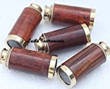 Brass & Wood Vintage LOTS OF 5 PCS Nautical Telescope Brass Pirate Spyglass Collectible Scope
