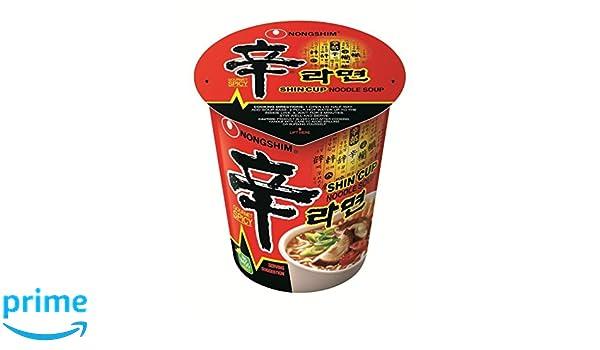 Nong Shim Shin Cup Noodle Soup - 12 Cups: Amazon.es: Alimentación y bebidas
