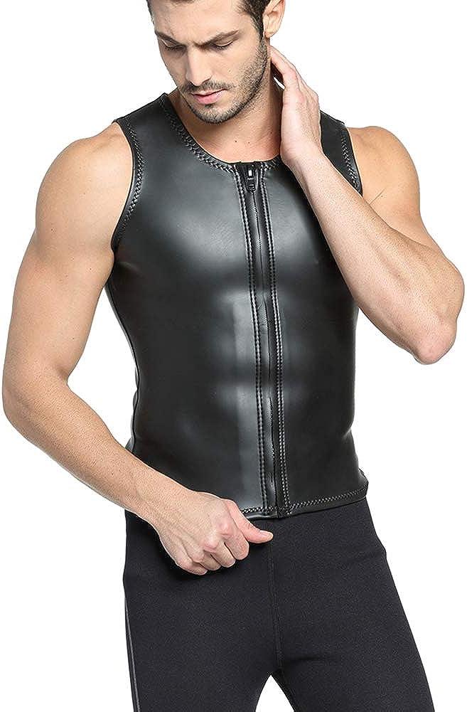 Schwei/ß-Shirt Gewichtsverlust figurformender Anzug Taillen-Trainer TELALEO Neopren-Sauna-Weste f/ür M/änner