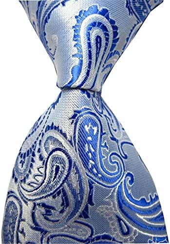 Allbebe Men's Classic Handsome Jacquard Woven Silk Tie Formal Necktie