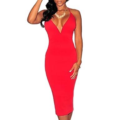 huge selection of 99281 bb262 ABILIO - vestito donna tubino rosso abito elegante festa ...