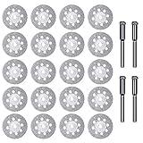 24PCS Diamond Cutting Wheel 22mm with Mandrel, Dremel Diamond Blade for Glass