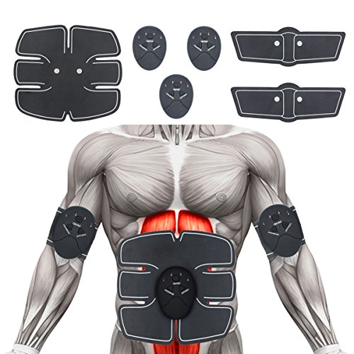 Abs Stimulator Muscle Trainer Muscle Toning Equipment Abdominal Toning Belt EMS ABS Toner Fitness Equipment For Abdomen/Arm/Leg Training Slimming Body Sculptor Massager Pad Abdominal Muscle Exerciser