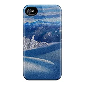 AMGake Perfect Tpu Case For Iphone 4/4s/ Anti-scratch Protector Case (winter Wonderland)