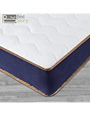BedStory Single Mattress, Memory Foam Pocket Sprung Mattress 9 Inch Depth, 3D Breathable Fabric Mattress, OEKO-TEX Certified (90x190x23cm)