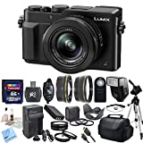 Panasonic LUMIX LX100 DMC-LX100K DMCLX100K 16.8 MP Point and Shoot Camera with Integrated Leica DC Lens (Black) + CS Pro Kit: Includes High Speed 32GB SDHC Memory Card, SD Card Reader, Memory Card Wallet, SLR Hand Strap, Lens Cap Keeper, High Definition Wide Angle Lens, Telephoto HD Lens, 3 Piece Filter Kit, 4 Piece Macro Close Up Set, Wireless Shutter Release, Shoe Mount Flash, Panasonic DMW-BLG10 Replacement Battery, Rapid Travel Charger With Car Adapter, HDMI Cable, Tulip Lens Hood, Full Size Tripod, Weather Resistant Carrying Case, Brush Blower, Cleaning Kit, LCD Screen Protectors & CS Microfiber Cleaning Cloth
