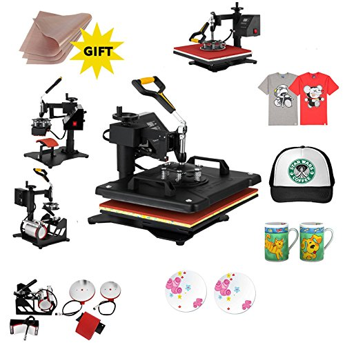 ShareProfit 15'' X 15'' 5 in 1 Digital Heat Press