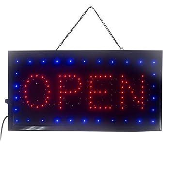 enshey 2 in1 Open & Closed tienda signo, signo de negocios ...