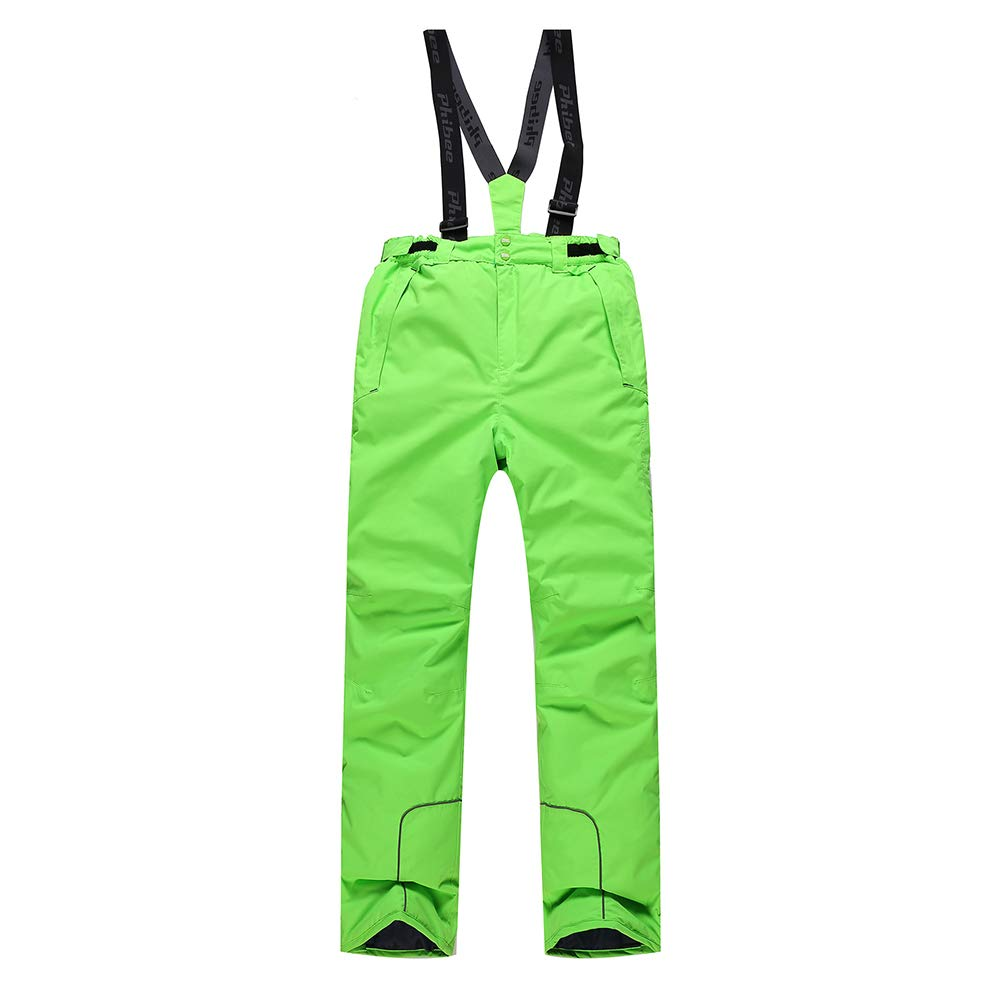 Dreagel Boys and Girls Ski Pants Colorful Waterproof Windproof Snow Pants with Adjustable Straps