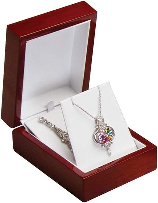 Elegant Cherry Wood Finish Bracelet Gift Box Chain Gift Boxes  1 2 6 12 24 pcs